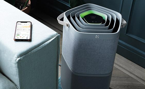 Czujnik jakości powietrza w oczyszczaczu Filtracja w oczyszczaczu Electrolux Pure A9 PA91-604GY