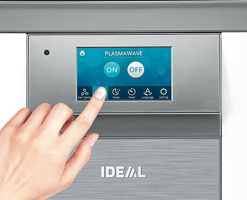 Oczyszczacz IDEAL AP 100 Med Edition - panel sterowania