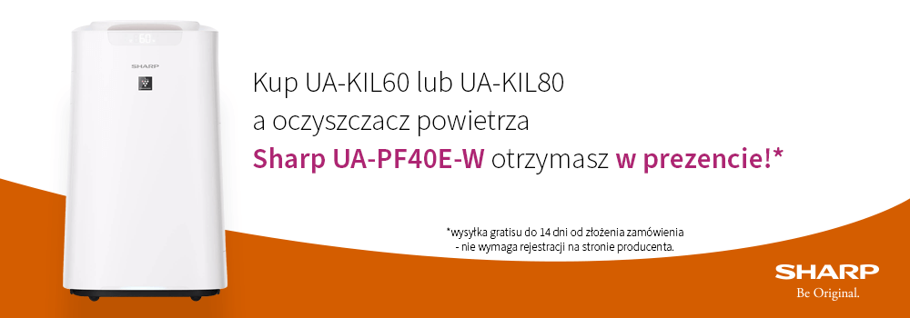 Oczyszczacze Sharp UA-KIL z gratisowym 2 modelem