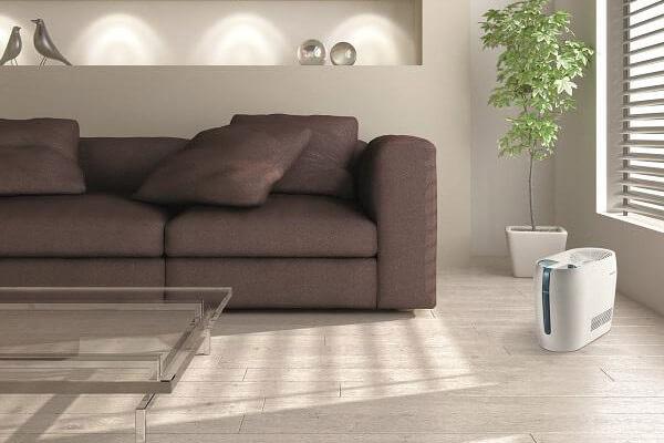 Nawilżacz powietrza Stylies Mira - aranżacja w salonie