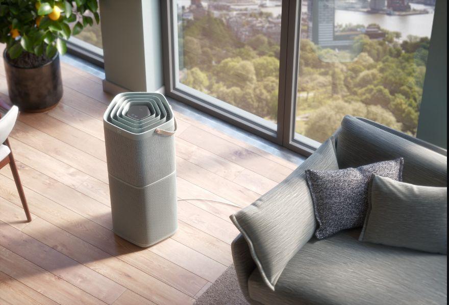 oczyszczacz powietrza w aranżacji pokoju dziennego