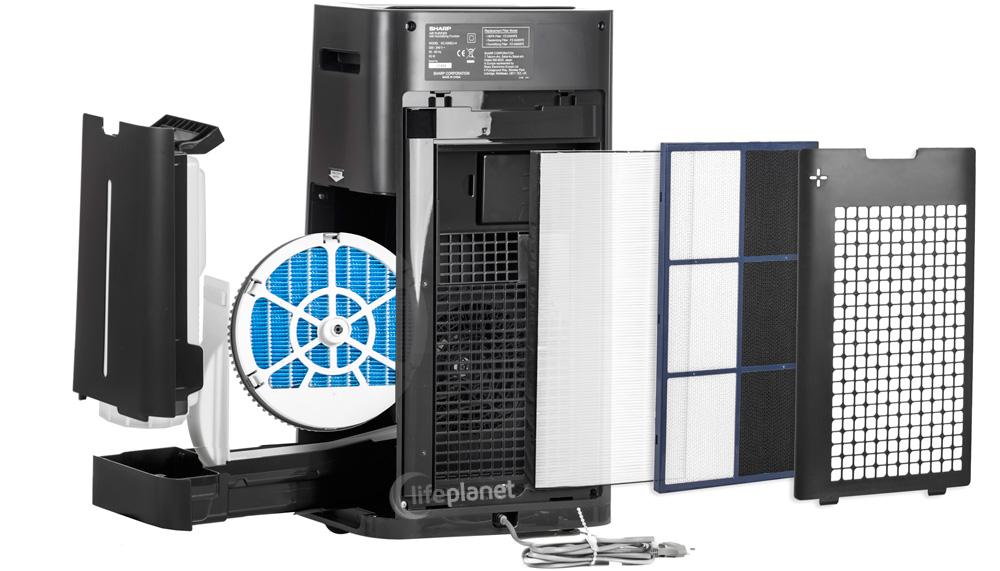Sharp KC-G50EUH - pięć stopni filtracji