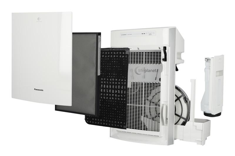 Przekrój filtracji w oczyszczaczu powietrza - Panasonic FVXR50G-W
