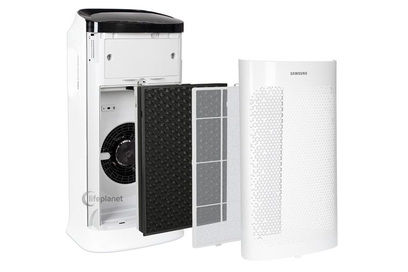 Filtracja w oczyszczaczu powietrza Samsung Oczyszczacz powietrza Samsung AX60R5080WD