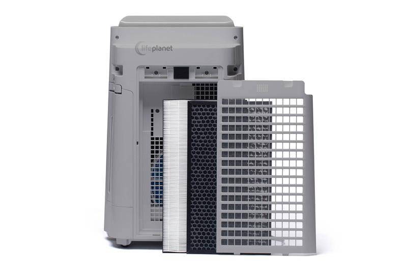 System filtracji w oczyszczaczu Sharp UA-HD40E-L
