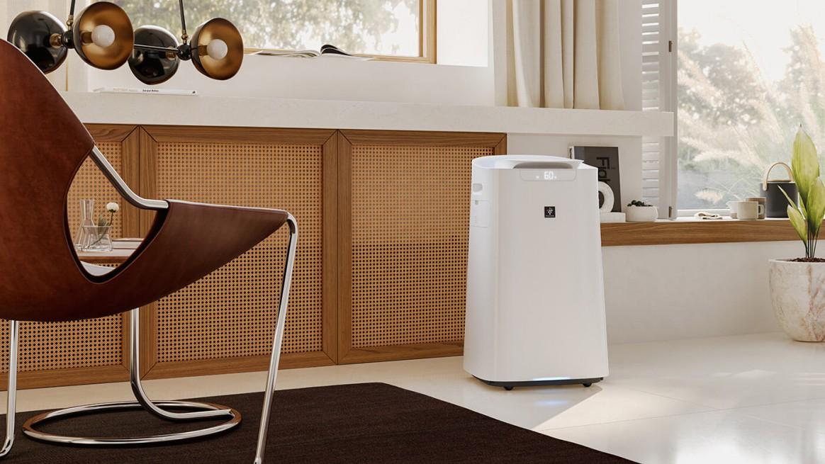 Oczyszczacz Sharp UA-KIL60E-W w salonie