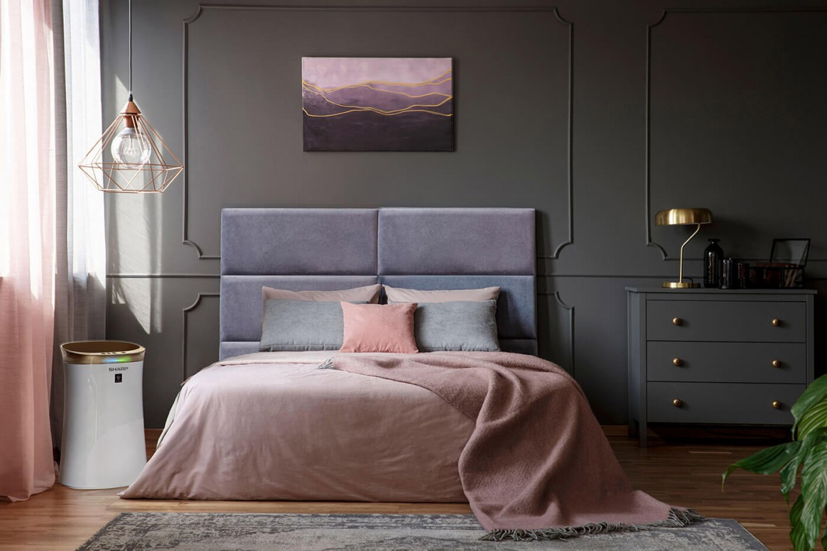 Sharp UA-PG50E-W w sypialni