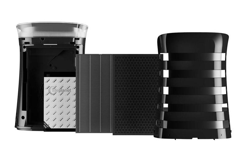 Filtracja w oczyszczaczu Sharp UA-PM50E-B