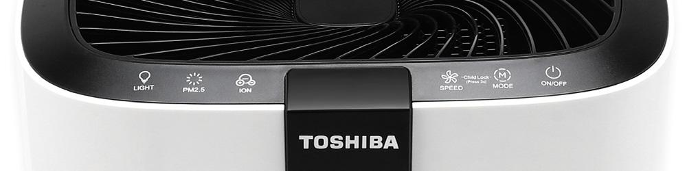 Panel sterowania w oczyszczaczu powietrza Toshiba CAF-X116XPL