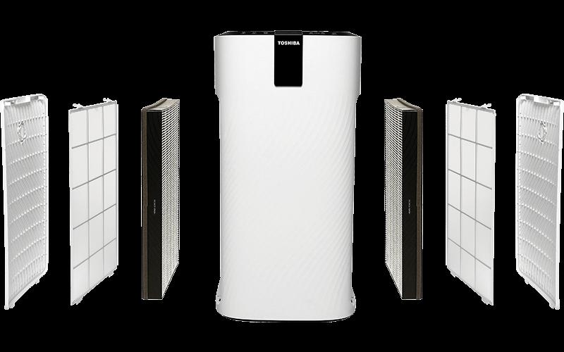 Przekrój filtracji w oczyszczaczu Toshiba CAF-X116XPL