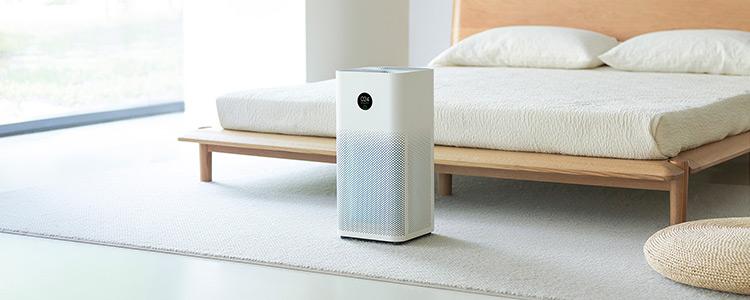 Oczyszczacz powietrza Xiaomi Air Purifier 3H - aranżacja w sypialni