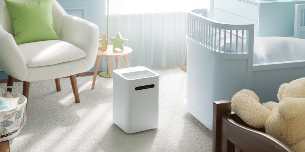 Nawilżacz powietrza Xiaomi w pokoju dziecięcym - aranżacja